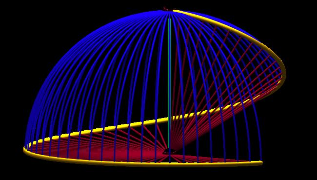 The HEMIX spiral - a unit thrust rocket's intrinsic 'world-line'