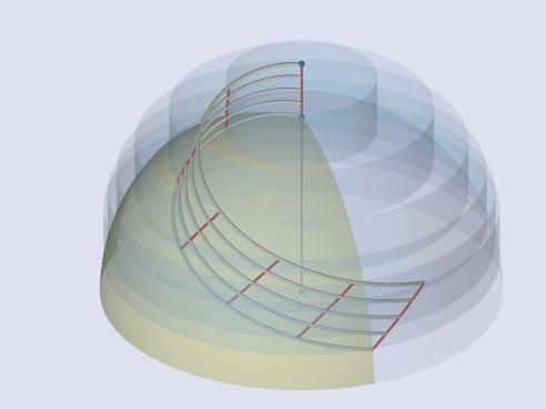 The HEMICOID unit thrust medium's metric own-surface